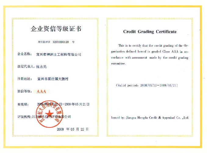 Yixing Shenzhou Earth Working Material Co.,Ltd.